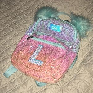 "Justice Accessories - JUSTICE ""L"" ombré sequin mini backpack"